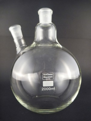 Flat bottom boiling flask 2 neck 24/29 2000mL