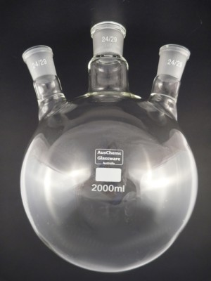 Round bottom boiling flask 3 neck 24/29 2000mL